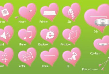 Icone con tema San Valentino