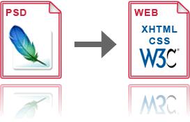 55 servizi per convertire un layout PSD in XHTML