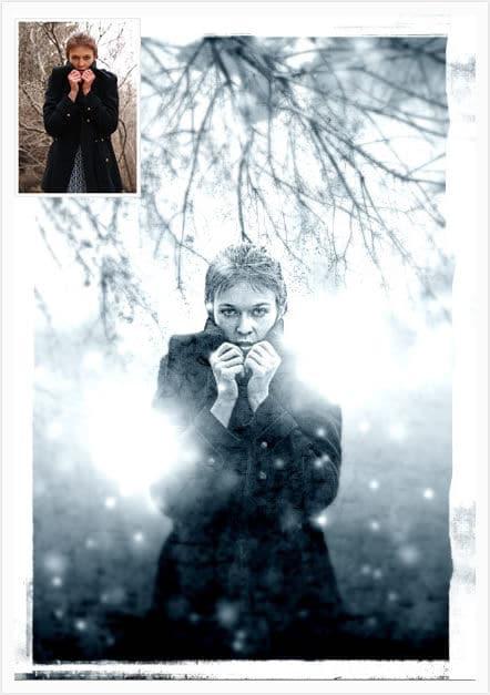 Creare uno scenario invernale con photoshop