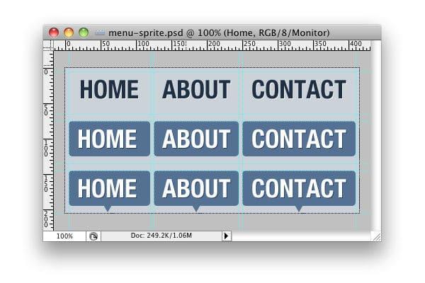 Creare un menu con la tecnica CSS Sprite