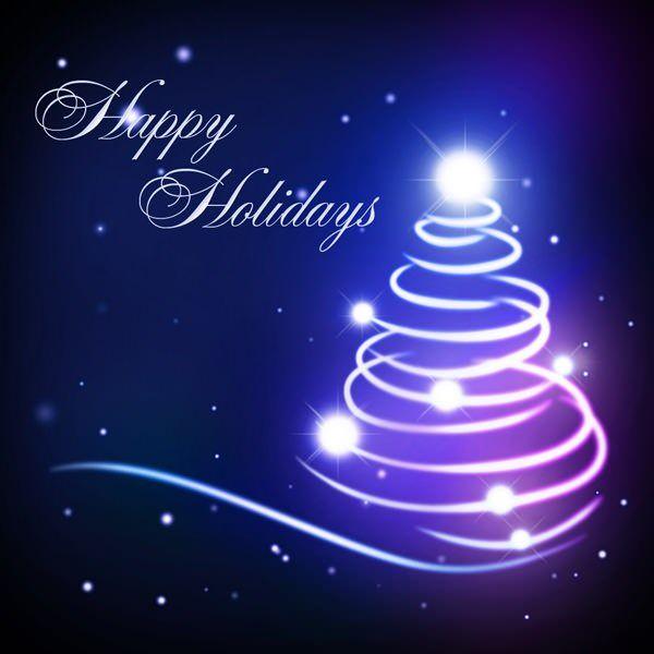 Alberi Di Natale Per Auguri.Creare Una Cartolina Di Auguri Con Un Albero Di Natale Abstract