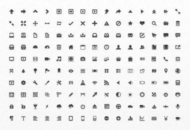 Raccolta di 150 mini icone pixel-perfect
