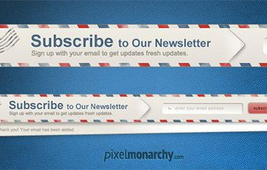 30 Newsletter Subscribe Box PSD file da scaricare gratis