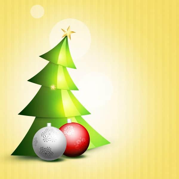 Immagini Natalizie Stilizzate.Creare Un Albero Di Natale Glossy E Stilizzato