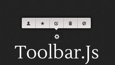 Toolbar.js: per creare toolbar in stile tooltip