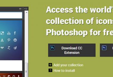 Blendme.in permette la gestione di icone direttamente da Photoshop