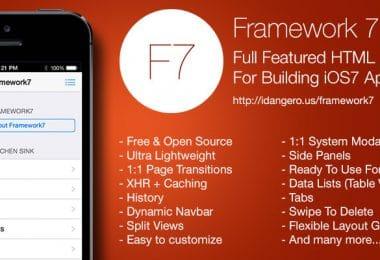 Framework7: la piattaforma open source per creare app in stile iOs7
