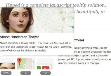 Tipped: i tooltip più belli senza il minimo sforzo