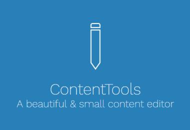Crea un editor WYSIWYG online con ContentTools