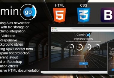 Template HTML5 responsive basato su Bootstrap