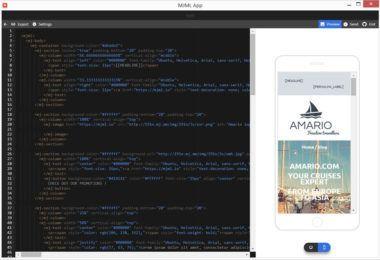 Creare responsive email template con l'app di MJML