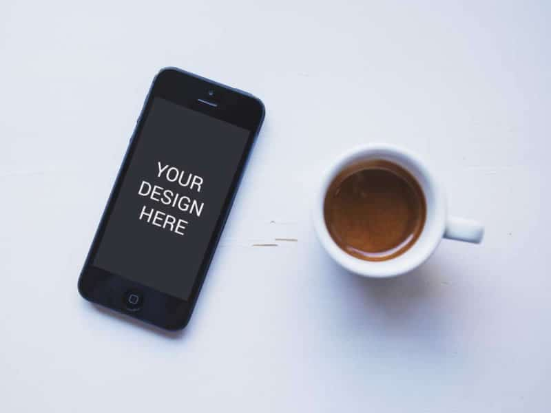 iphone 6 tazzina caffe mockup