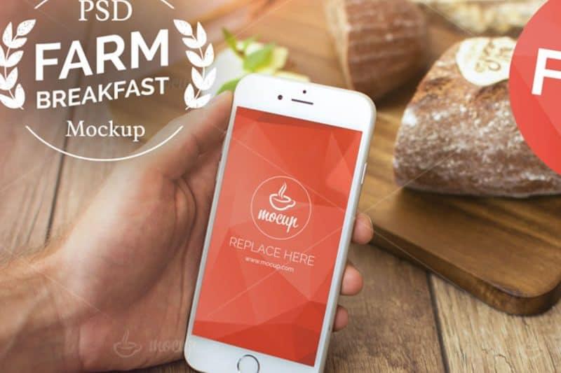 iphone colazione mockup