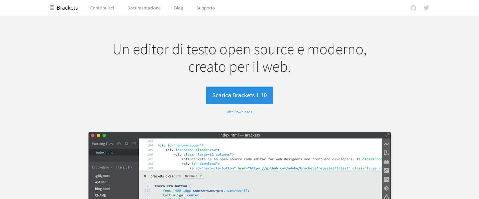 editor html brackets