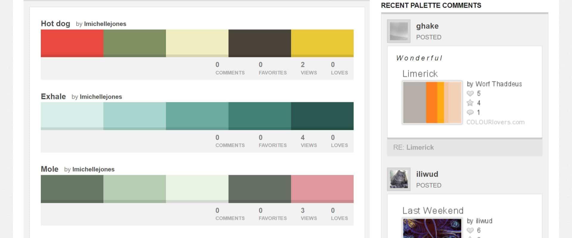 palette colori colourlovers