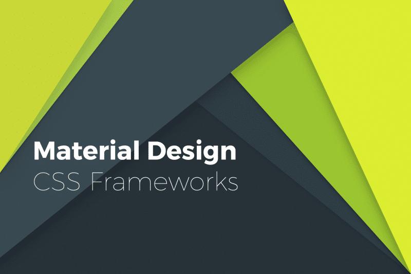 material design css frameworks