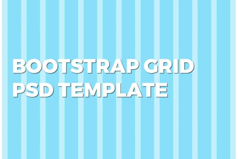10 griglie Bootstrap template in formato PSD